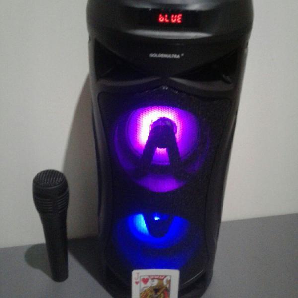 caixa de som ,caixinha,radio FM,Bluetooth, Microfone sem fio