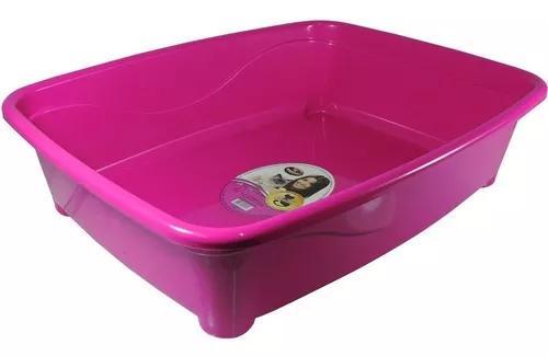 Bandeja Higiênica Furacão Pet Classic Rosa Para Gatos