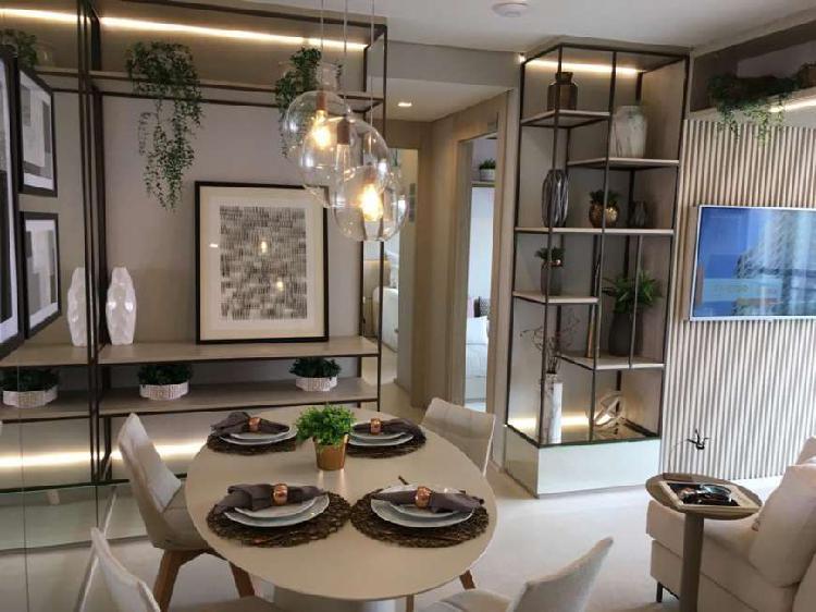Aptos 55 m² | 2 Dormts 1 Suíte | Lazer | 1 Vaga | 550 m