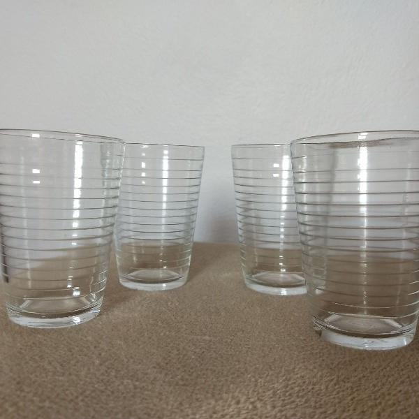 conjunto de 6 copos de vidro de 200ml cada