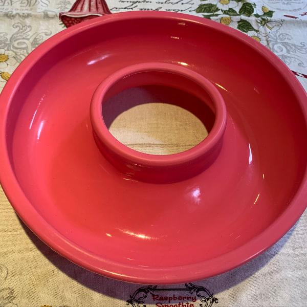 forma de silicone - pudim e bolo rosa redonda