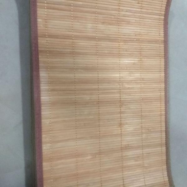 lindo jogo americano com 12 peças em bambu e borda de