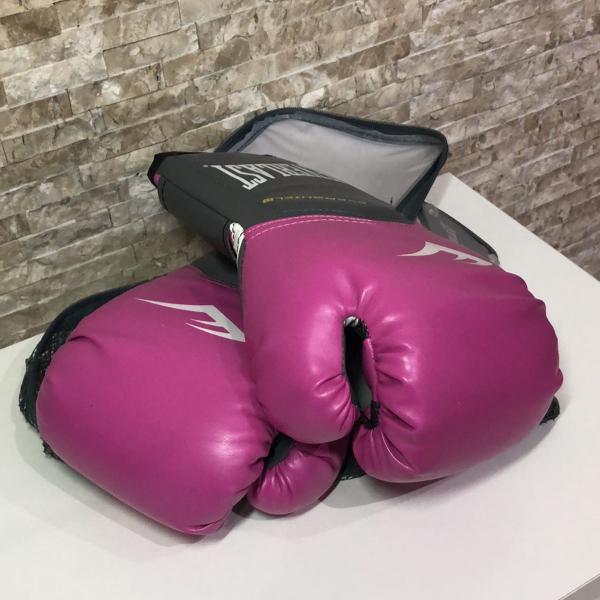 luva boxe rosa