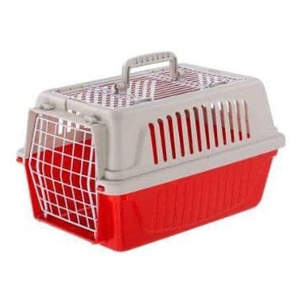 transportes atlas 5 ferplast para cães e gatos vermelho