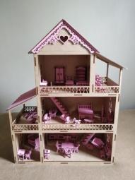 Casinha de boneca pintada