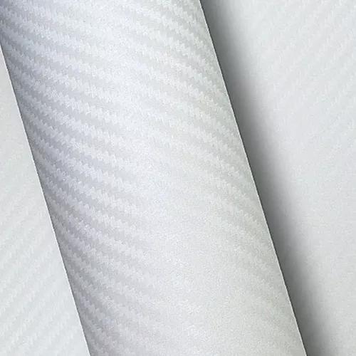 Envelopamento Fibra De Carbono Branco 4m X 1,22m
