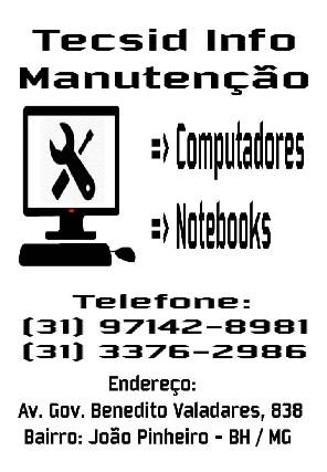 Manutenção de Computadores em BH Tecsid Info