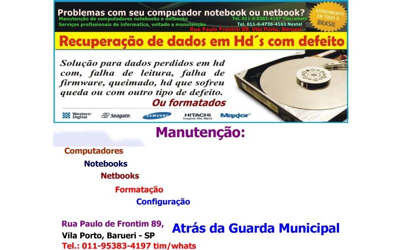Manutenção de computadores e notebooks em Barueri Vila