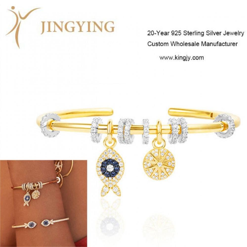 Pulseras brazaletes 925 joyería de plata esterlina