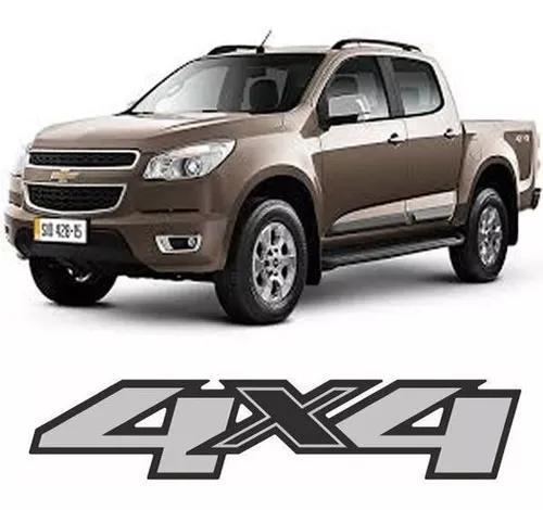 Adesivo 4x4 Nova S10 2012 2013 2014 2 Peças