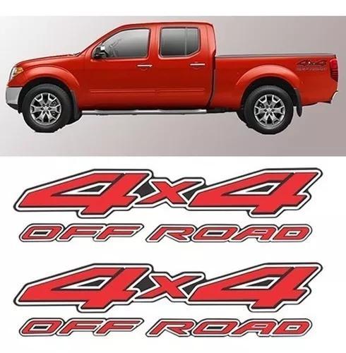 Adesivo Nissan Frontier 4x4 Off Road 2 Peças Par
