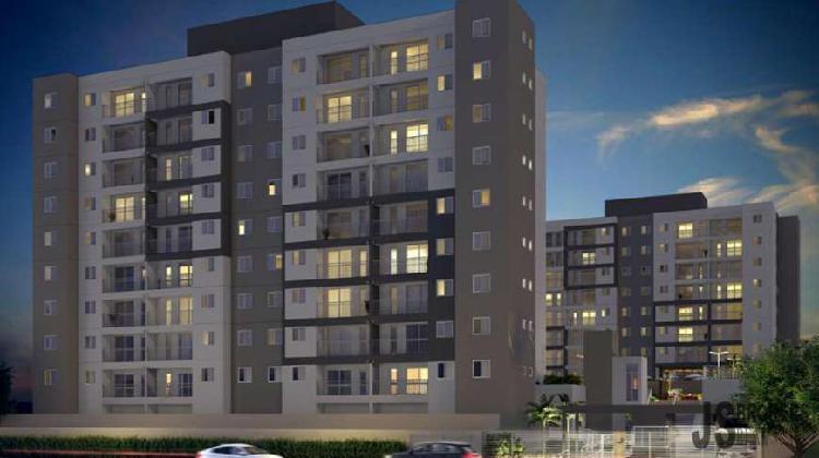 Apartamento de 54 m², 2 dormitórios, 1 suíte, 2 vagas