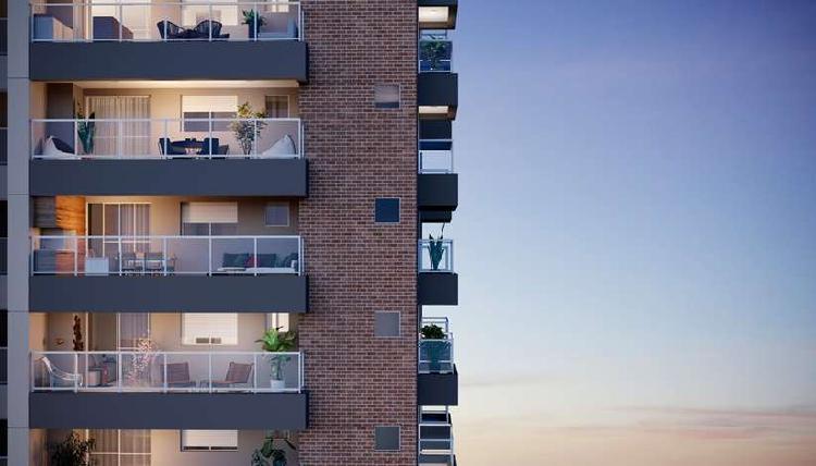 Apartamento para venda possui 102 m² com 2 dormitórios no