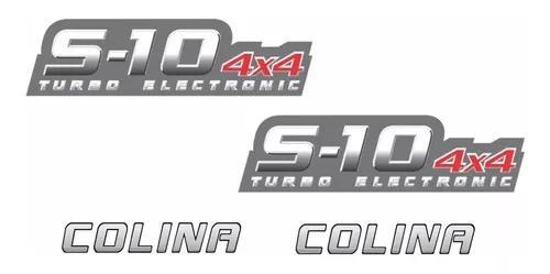 Kit Adesivos S10 Colina 4x4 Turbo Electronic 4 Peças