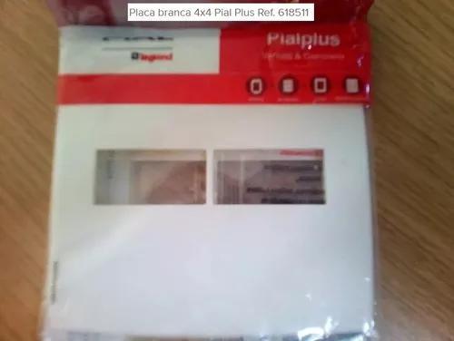 Placa 4x4 2mod Horiz Pial Plus Ref.618511 Kit 10 Peças