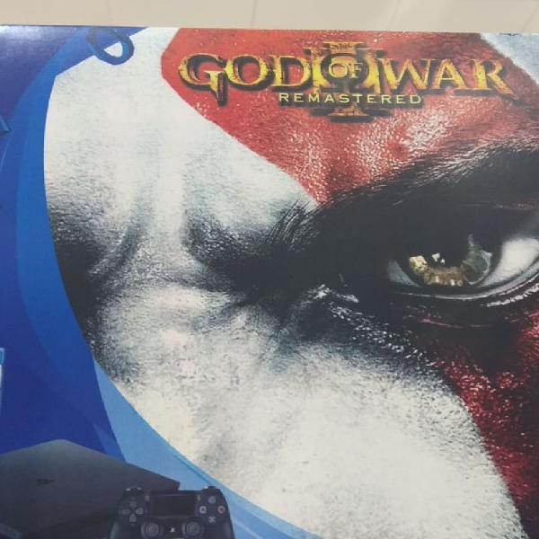 Sony ps4 slim 500gb c/ jogo god of war frete grátis