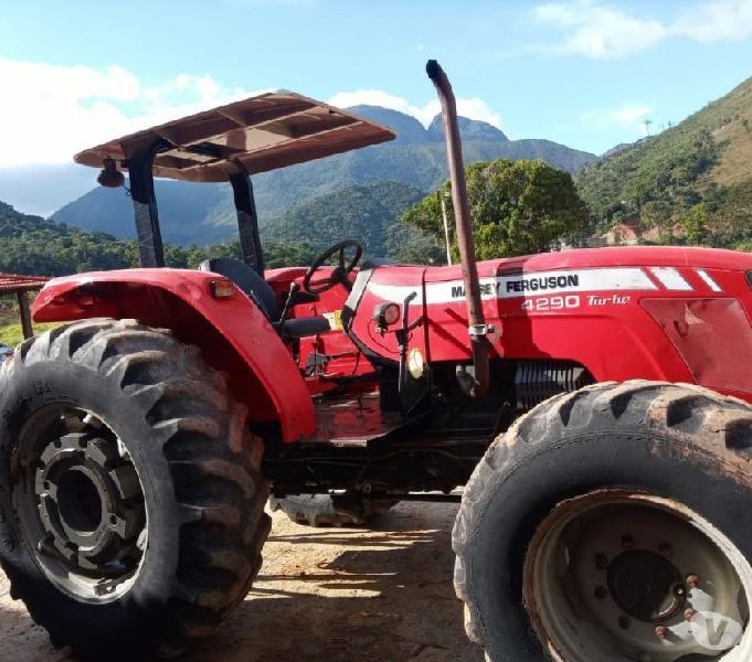 Trator agricola marssey ferguson md 4290 ano 2013 inteirao