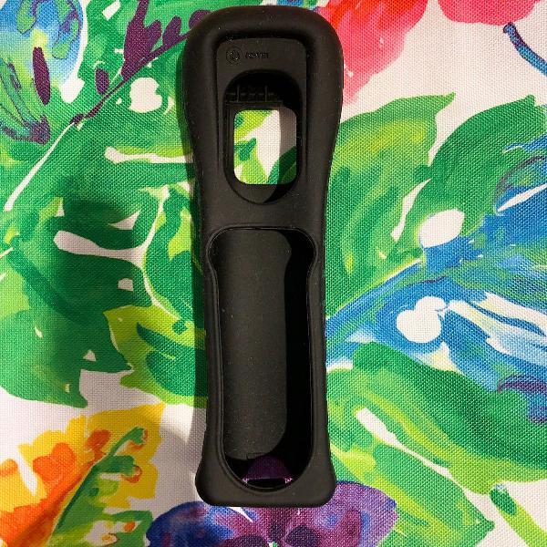 capa de silicone preta original para controle nintendo wii
