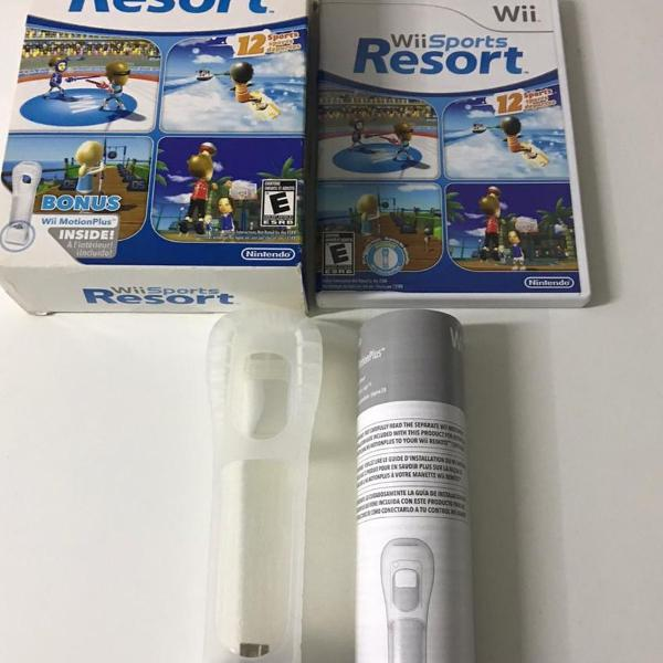 wii sports resort e wii motion plus