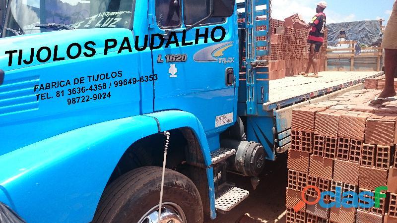 tijolos de 8 furos direto da olaria para igarassu paulista