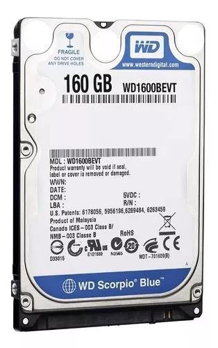 Hd 160gb 5400rpm Sata Notebook/ultrabook Com Garantia