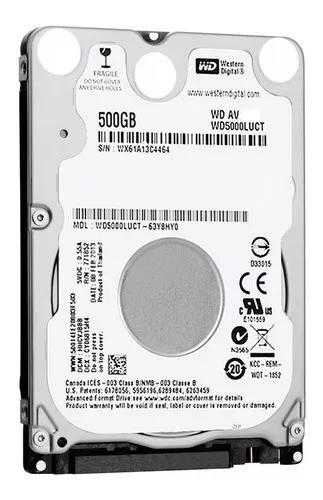 Hd Notebook 500gb Sata Wester Digital, Samsung, Hitachi