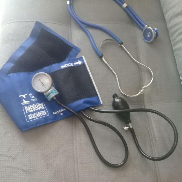 Medidor de Pressão Arterial Aneróide c/ Estetoscópio