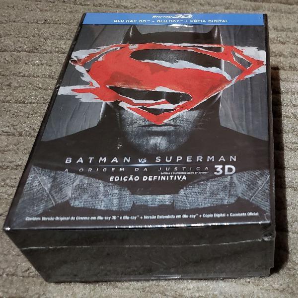 box batman vs superman ed. colecionador bluray lacrado
