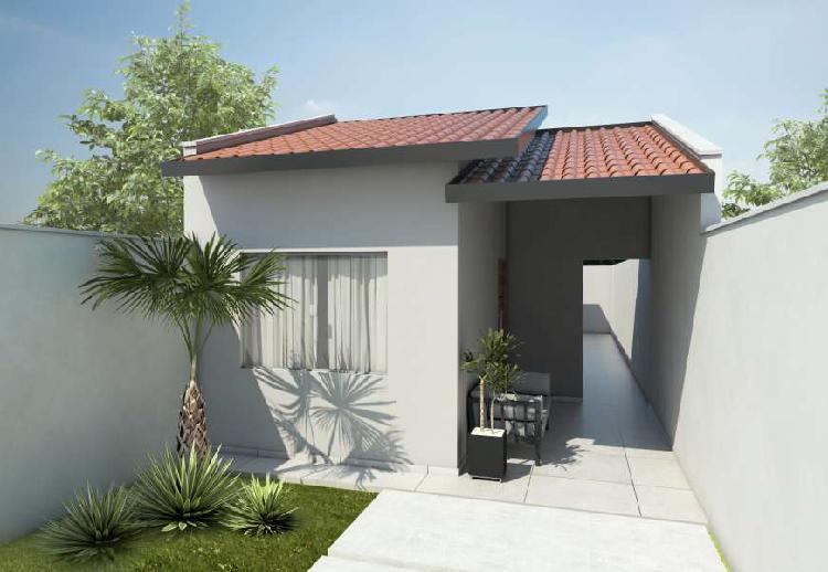 Casa para venda tem 69 metros quadrados com 2 quartos em