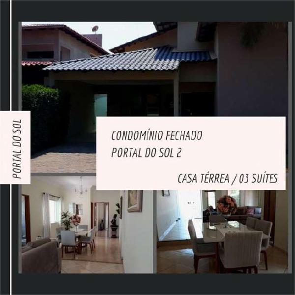 Casa Térrea Condominio Fechado Portal do Sol II 03 Suítes