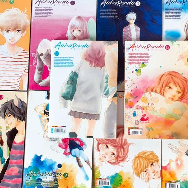 Coleção Completa Mangá Aoharaido (Ao Haru Ride)
