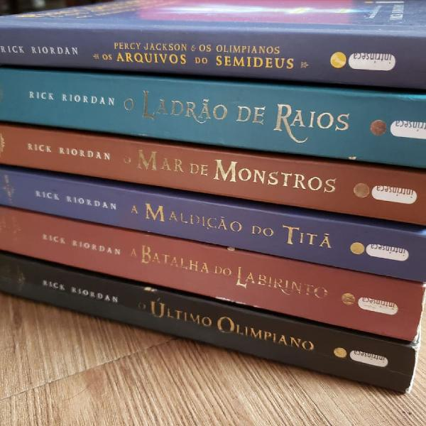 Coleção de livros Percy Jackson