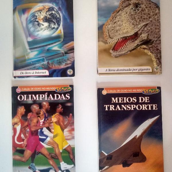 Coleção de olho no mundo. 4 volumes.