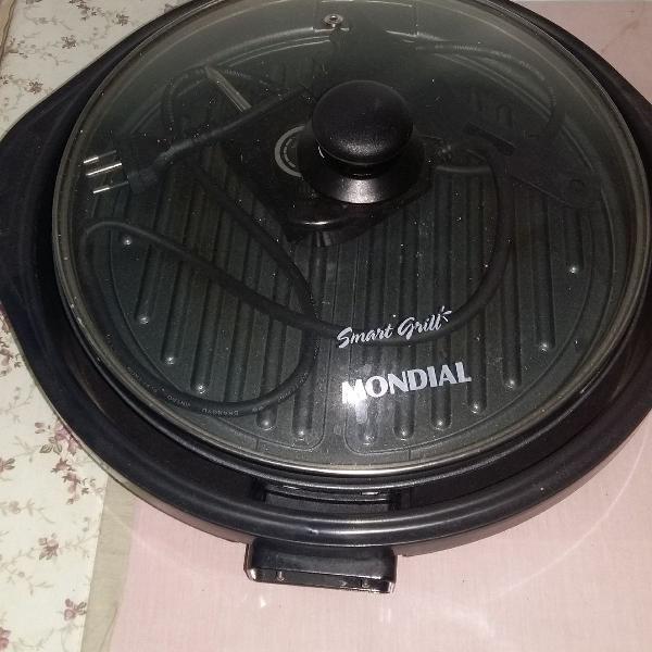 Grill Redondo com Tampa de Vidro Smart Grill - G-04