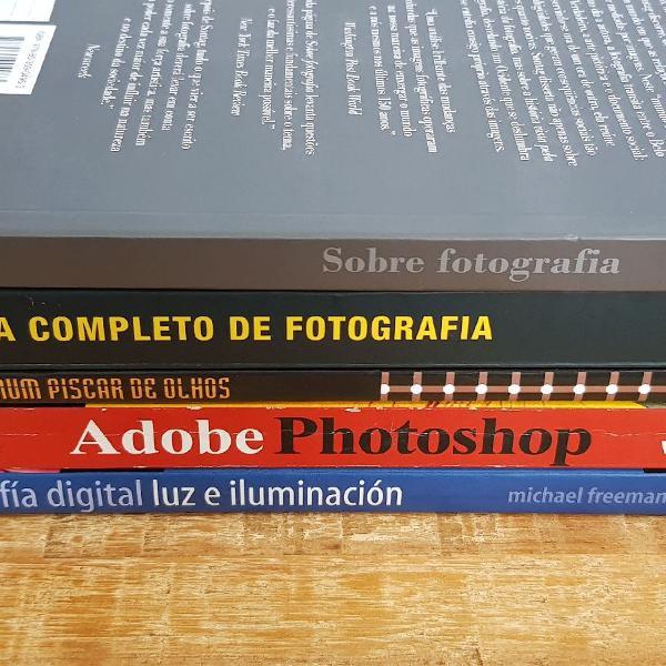 Lote de 5 livros de fotografia e edição de vídeo