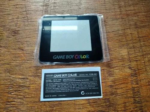 Tela Game Boy Color Vidro E Label Adesiva Gameboy Nintendo