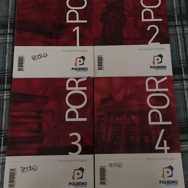 coleção completa livros poliedro português e literatura