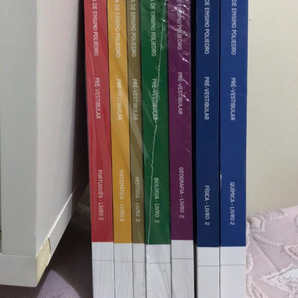 coleção de livros poliedro, pré vestibular.