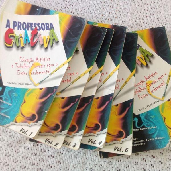 coleção de livros professora criativa bem conservada