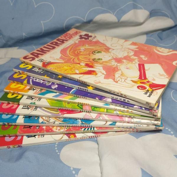 coleção de mangás sakura card captors vol. 1 ao 9