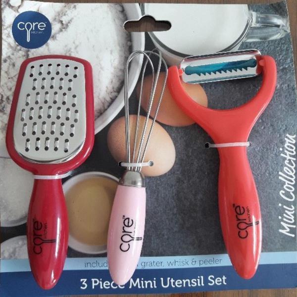 kit mini utensilios de cozinha core kitchen , lacrado