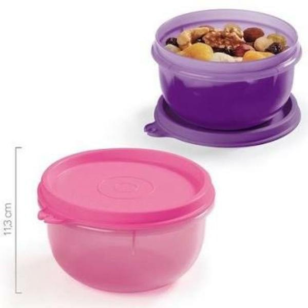kit tigelinha 250ml (roxo + rosa) - tupperware