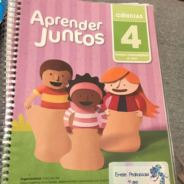 livro escolar aprender juntos ciências 4 ano editora sm
