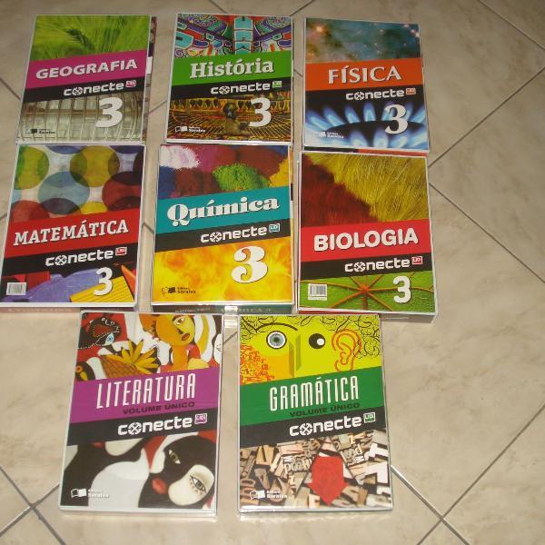 livros 7 - box completos ensino médio conecte - saraiva