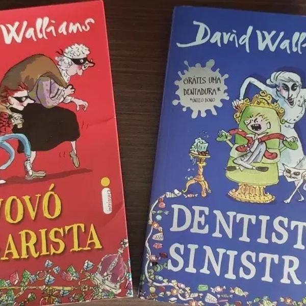 livros dentista sinistra e vovó vigarista d. wallians