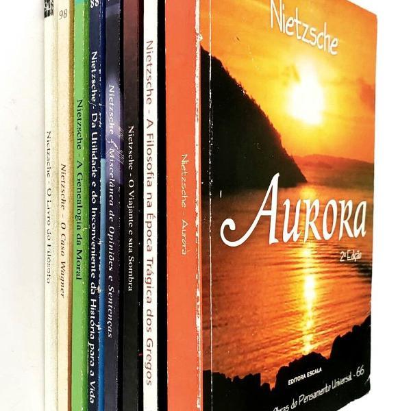 lote com 8 livros de friedrich nietzsche - coleção escala