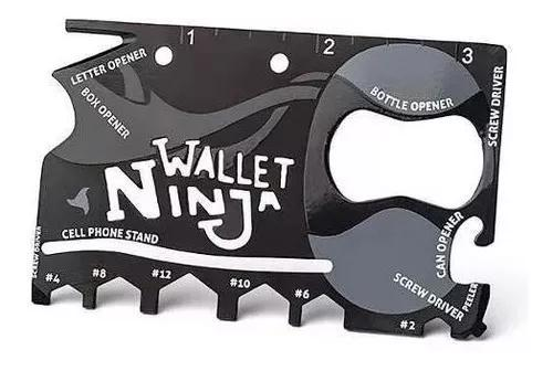 Cartão Ninja Wallet 18 Ferramentas C/ Abridor De Garrafa!