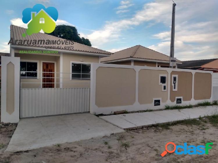Excelente casa nova em araruama localizada no bairro Três