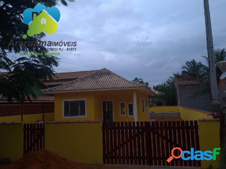 Excelente casa nova em araruama (praia seca) localizada na