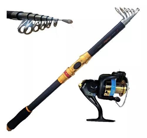 Kit Pesca Alto Mar Vara 3,60 M 36 Lbs Molinete 10 Rol. 2020
